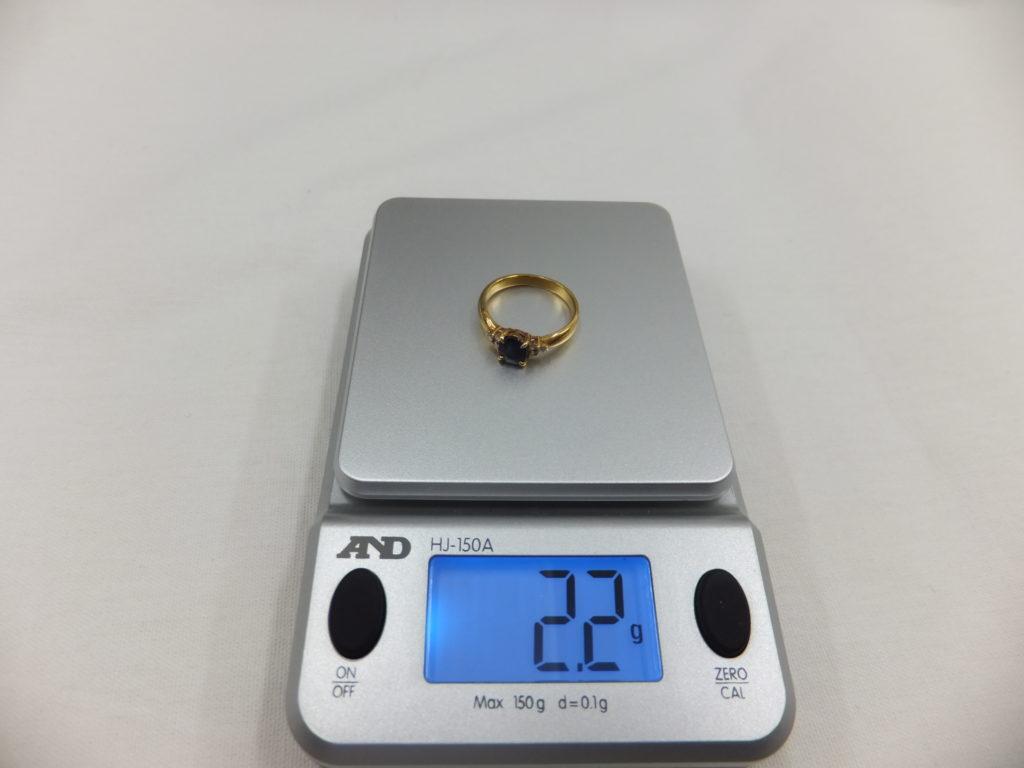 K18リングの重量